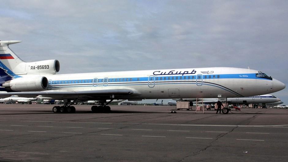 Tupolew 154 der russischen Fluglinie Sibir, 2001