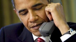 Barack Obama am Telefon