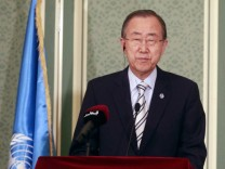 UN Secretary General Ban Ki Moon in Qatar
