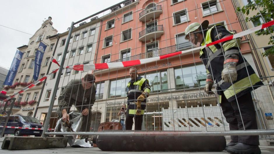 Explosion in Münchner Arztpraxis