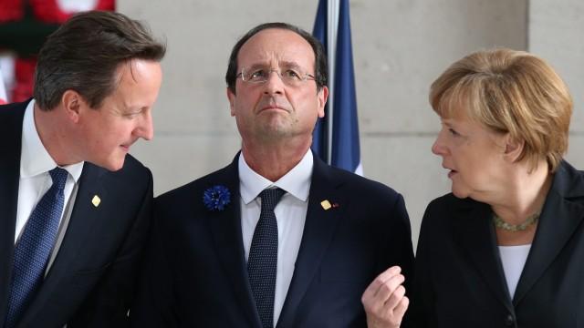 Cameron, Hollande und Merkel