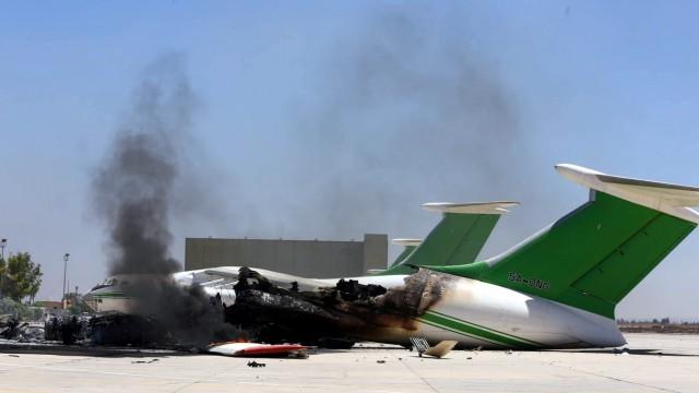 Tripolis Libyen Flughafen