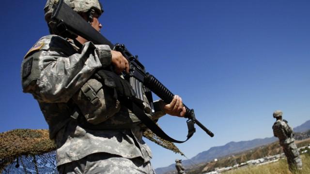 US-Nationalgarde patroulliert an der Grenze zu Mexiko