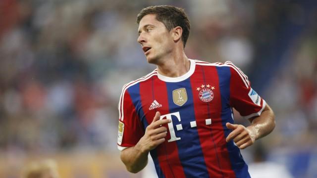 Sommer Neuzugang Robert Lewandowski FC Bayern Muenchen 9 beim Torjubel nach dem Treffer zum 1 0 MS