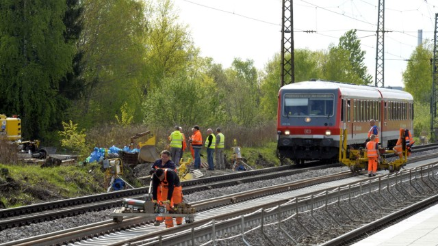Gleismodernisierung in München, 2014