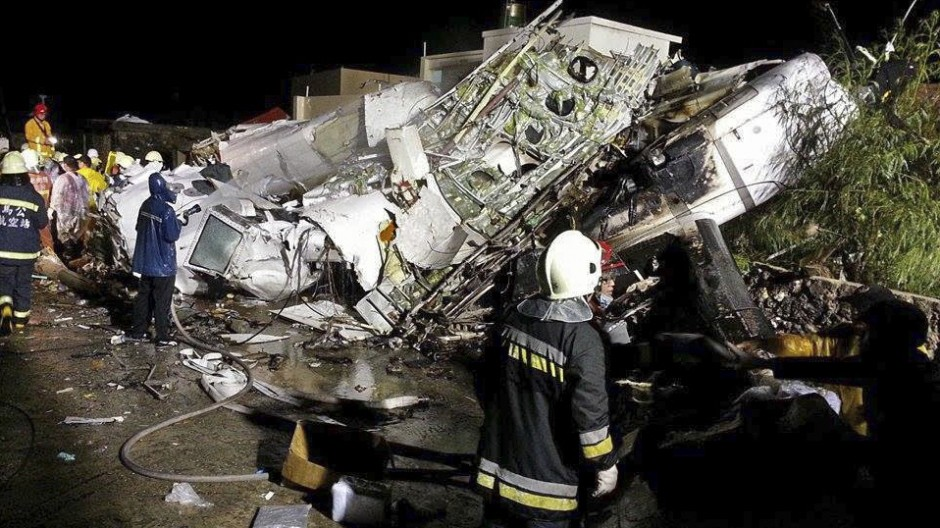 Flugzeugabsturz Flugzeugunglück in Taiwan