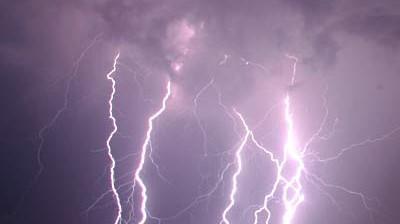 Vom Blitz getroffen