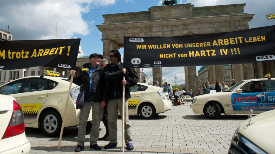 Taxi-Demonstration in Berlin