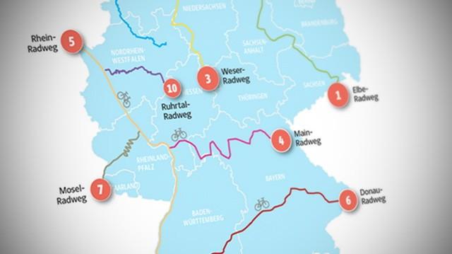 Borkum Karte Fahrradwege.Zehn Schone Radfernwege In Deutschland Reise Suddeutsche De