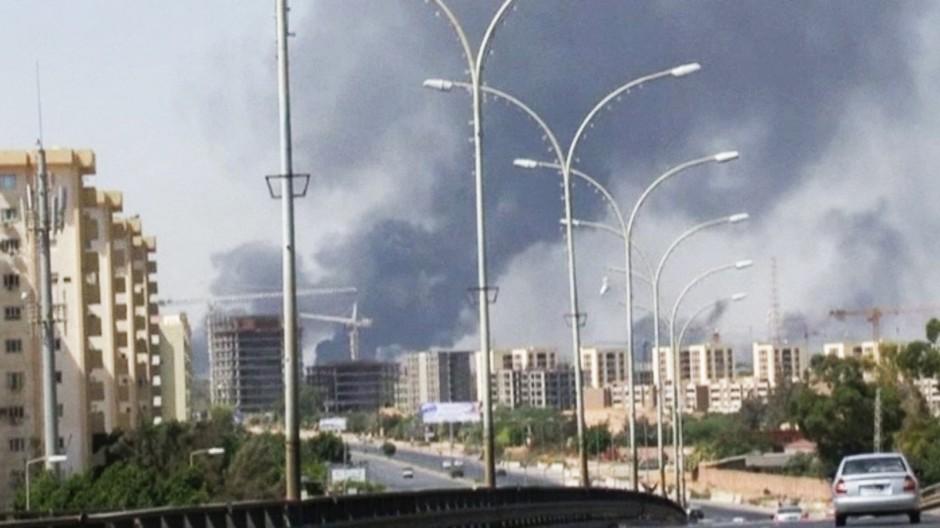 Tripolis Flughafen Libyen Kämpfe Milizen