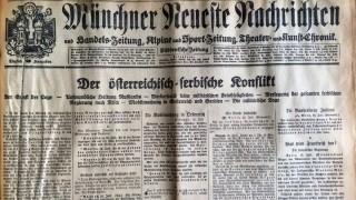 Titelseite der Münchner Neuesten Nachrichten vom 27. Juli 1914