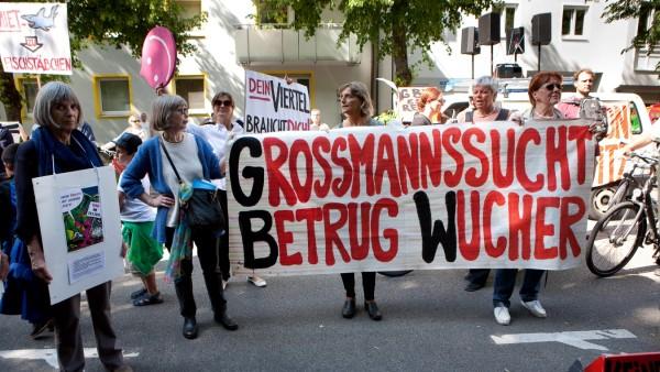 GBW-Mieter demonstrieren gegen den Verkauf ihrer Wohnungen in München, 2014