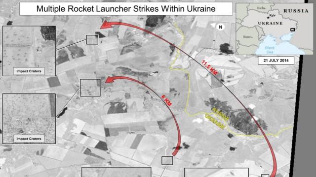 Ukraine Russland Satellitenbild