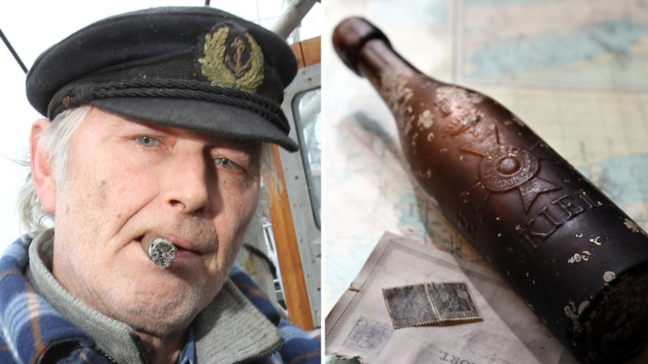 Auktion der 101 Jahre alten Flaschenpost gestoppt