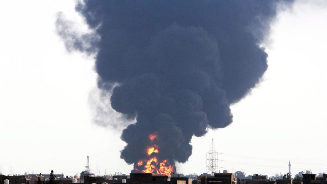 Oil tankers catch fire near Tripoli airport