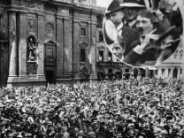 Adolf Hitler bei Ausbruch des 1. Weltkrieges in München, 1914 Erster Weltkrieg