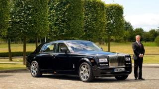 Andy McCann beim Rolls-Royce Fahrertraining