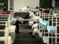 Flüchtlingsunterkunft in der Bayernkaserne in München, 2014