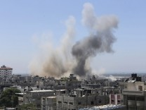 Smoke rises following what witnesses said were Israeli air strikes in Rafah in the southern Gaza Strip