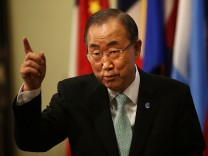 UN Secretary-Genera; Discusses Situation In Middle East