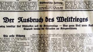 Titelseite der Münchner Neuesten Nachrichten  5. August 1914 Erster Weltkrieg