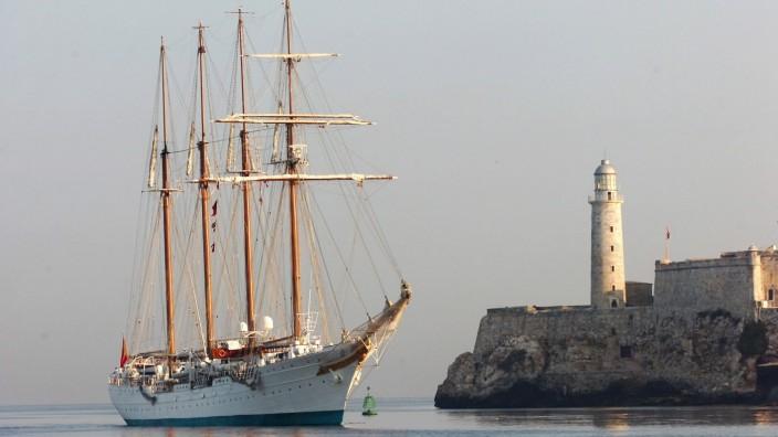 Spanisches Segelschulschiff 'Juan Sebastian Elcano'