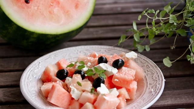 Wassermelonensalat mit Fetakäse - Foodblog Kochnische