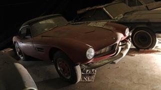Der BMW 507 von Elvis Presley verstaubte über die Jahre.