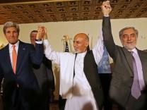 Jonh Kerry, Ashraf Ghani Ahmadzai, Abdullah Abdullah