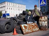 Barrikaden Maidan Kiew Ukraine