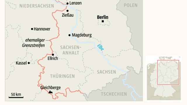 Grünes Band entlang der früheren deutsch-deutschen Grenze
