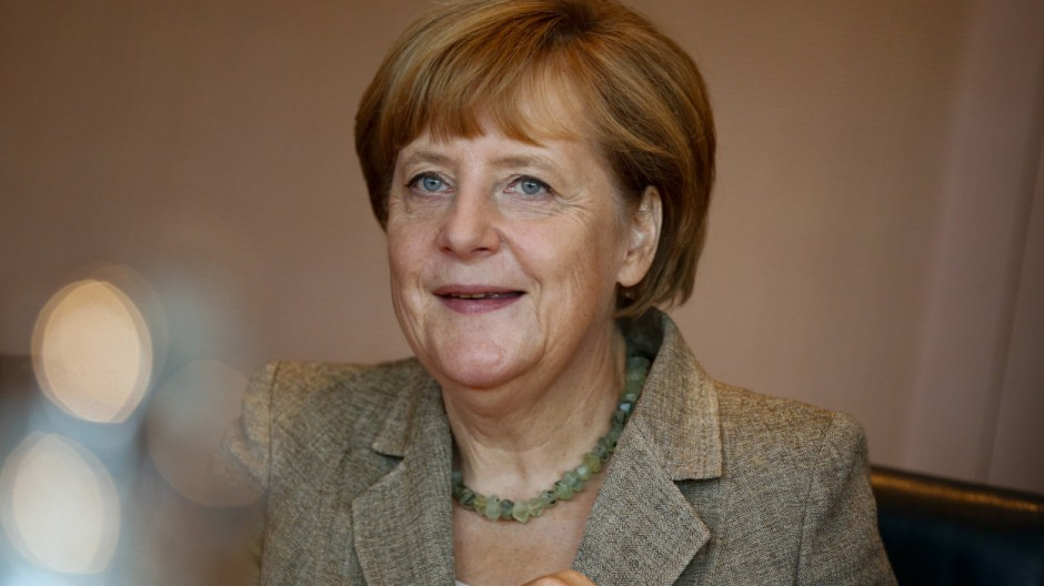 German Chancellor Merkel attends a cabinet meeting at Chancellery in Berlin