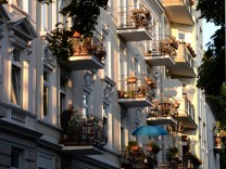 Balkone in der Abendsonne