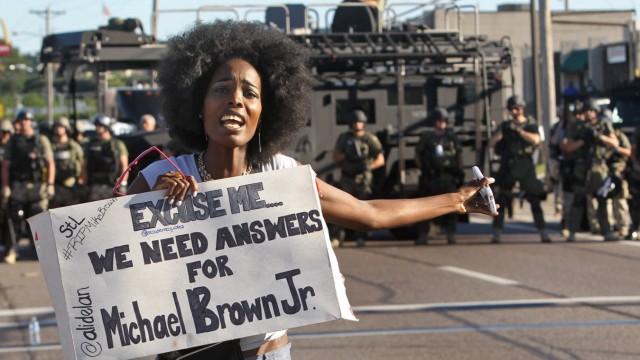 Michael Brown Proteste im Vorort von St. Louis