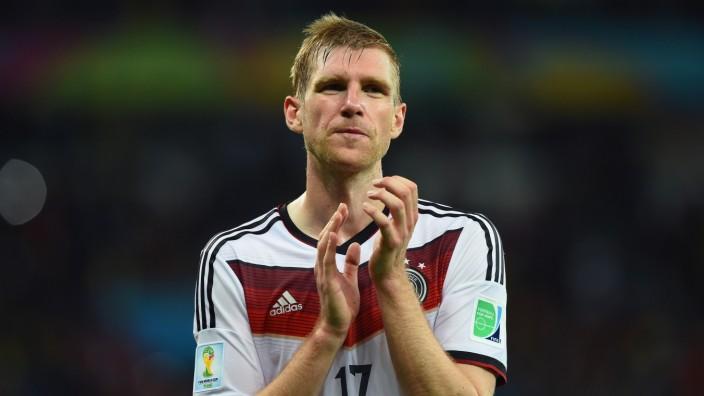 DFB-Nationalspieler Per Mertesacker nach dem Algerien-Spiel bei der WM 2014.