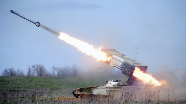 Combat firing exercise in Volgograd Region