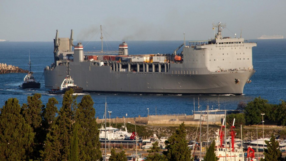 US vessel MV Cape Ray arrives in Gioia Tauro