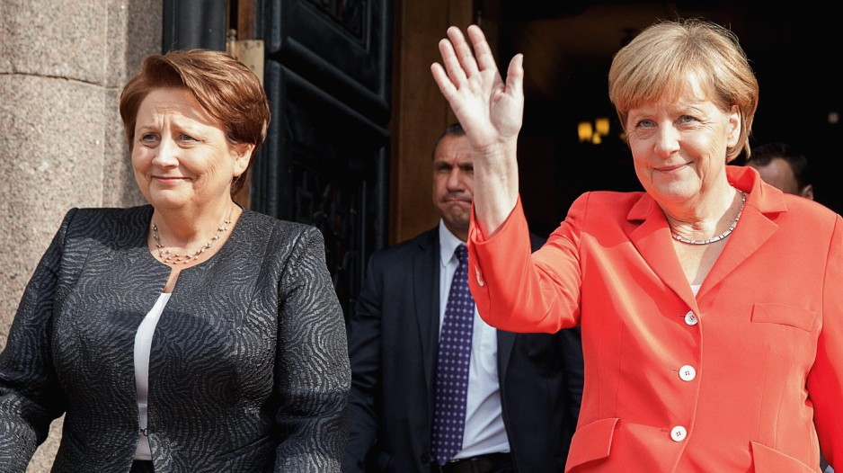 German Chancellor Angela Merkel in Latvia