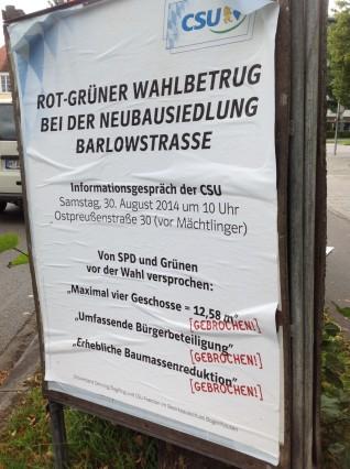 CSU-Plakat
