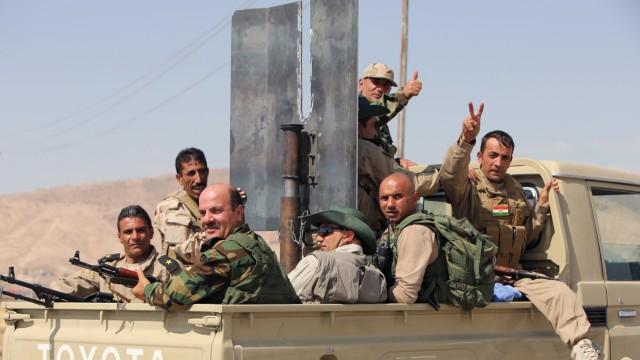 Islamischer Staat Rebellen-Fahrzeug Toyota-Hilux