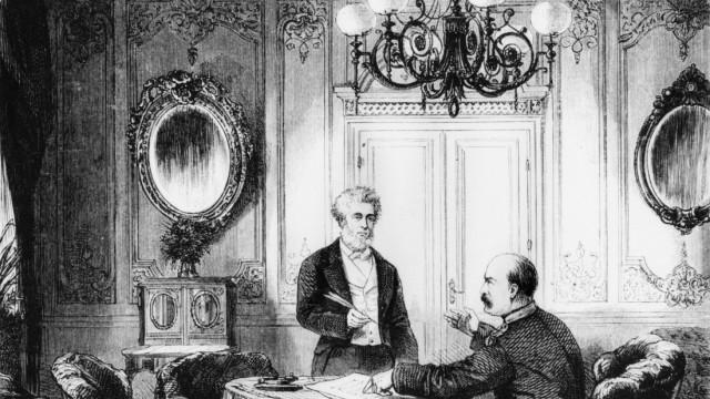 Jules Favre mit Otto von Bismarck, 1871