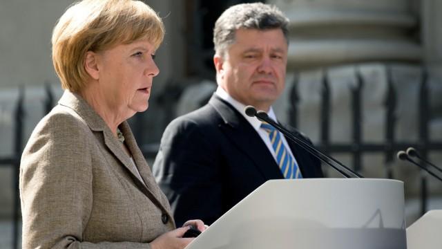 Bundeskanzlerin Merkel in der Ukraine