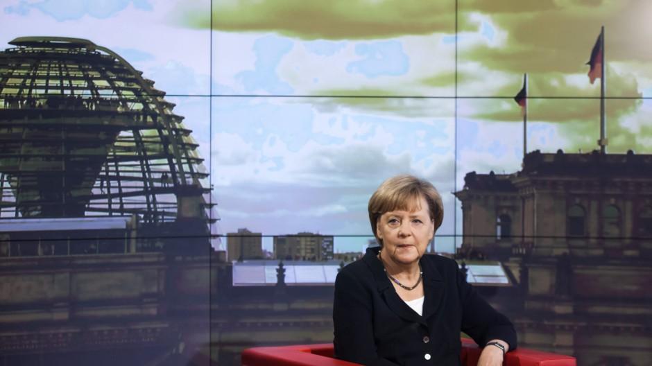 Angela Merkel Bundeskanzlerin im ARD-Interview