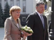 Merkel visiting Ukraine for talks