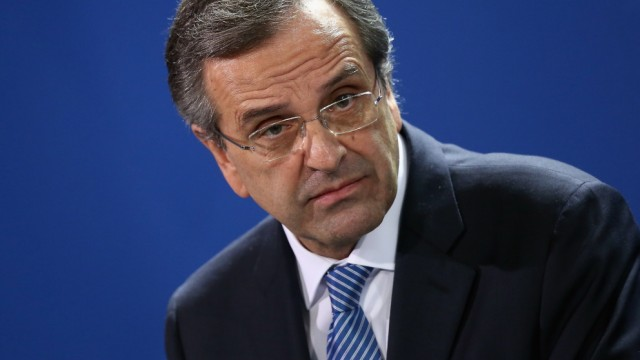 Chancellor Merkel Meets With Greek Prime Minister Samaras