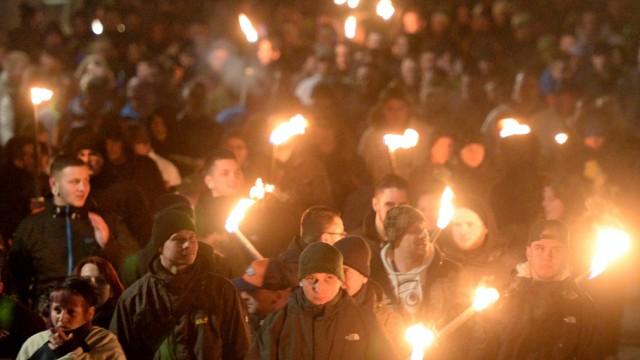 Demonstrationen in Schneeberg