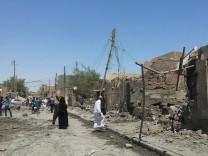 Iraqi Air Force air raid in Fallujah city