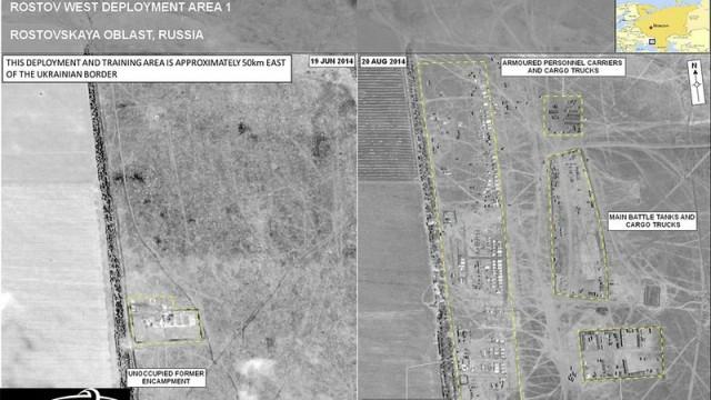 Russische Truppen im russisch ukrainischen Grenzgebiet