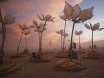 The art installation Pulse & Bloom is seen during the Burning Man 2014 'Caravansary' arts and music festival in the Black Rock Desert of Nevada