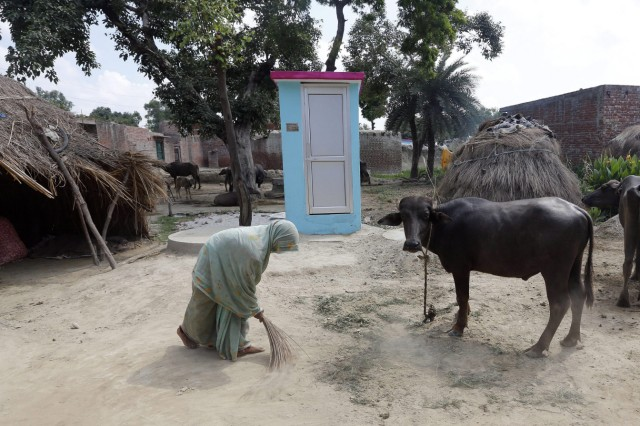 Low-cost toilets for Indian villagers
